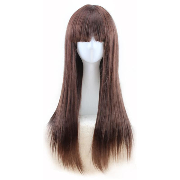 Fashion Wig - Straight 24 Brown Wigs #2 / 24Inches