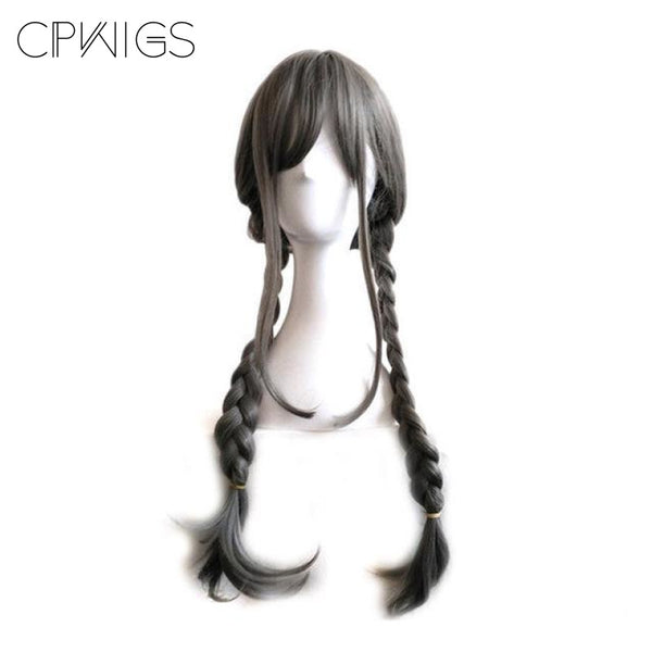 Lolita - Braided 2 Dark Grey Wigs