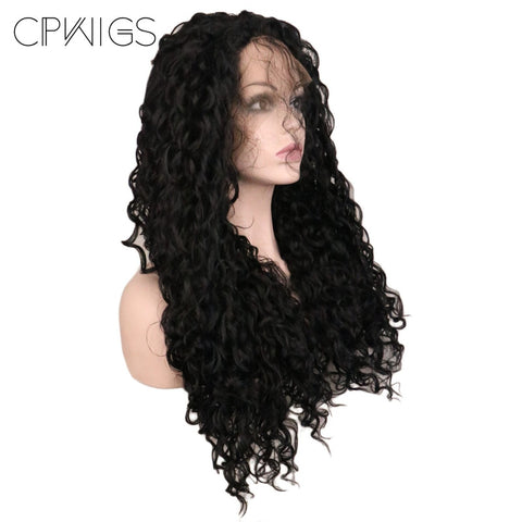 "Lace Fronts - Kinky Curly 26"" - Black Wigs"
