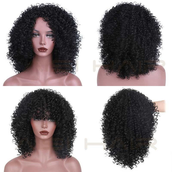 Fashion Wig - 16 Kinky Curly 5 Colors