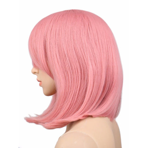 Bob - 16 Inches Pink Cosplay Wig