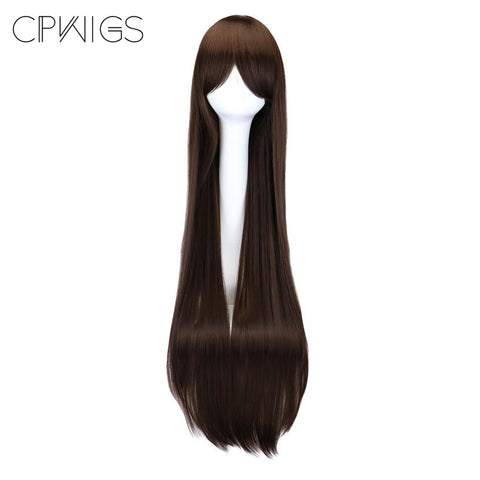 "Fashion Wig - Straight 38"" - Dark Brown Wigs"