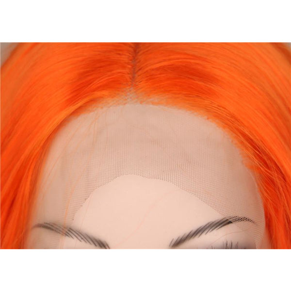 Lace Fronts - Curly 28 Orange Wigs
