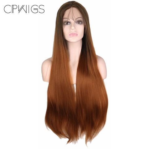 "Lace Fronts - Straight 28"" - Brown Wigs"