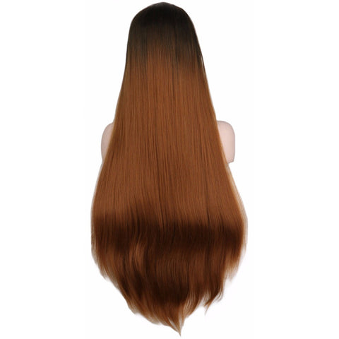 Lace Fronts - Straight 28 Brown Wigs