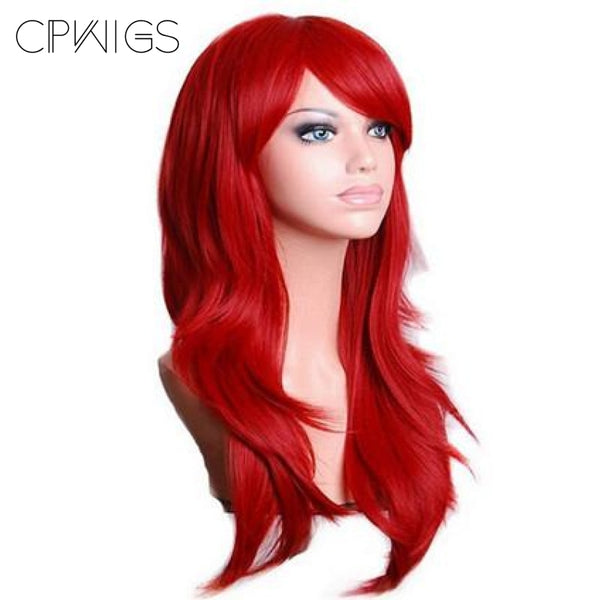 Fashion Wig - Wavy 28 12 Colors Red / 28Inches