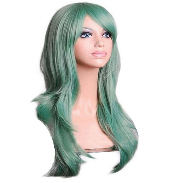 Fashion Wig - Wavy 28 12 Colors Green / 28Inches