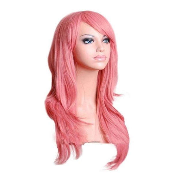 Fashion Wig - Wavy 28 12 Colors Pink / 28Inches