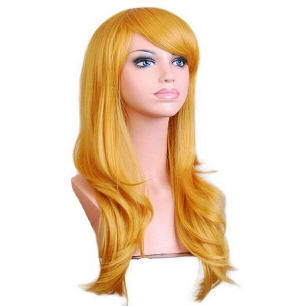 Fashion Wig - Wavy 28 12 Colors Yellow / 28Inches
