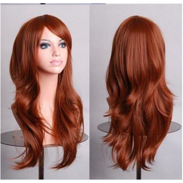 Fashion Wig - Wavy 28 12 Colors Light Brown / 28Inches