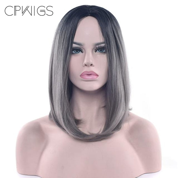 Bob Wigs - 16 11 Colors Tb/dark Grey / 16Inches
