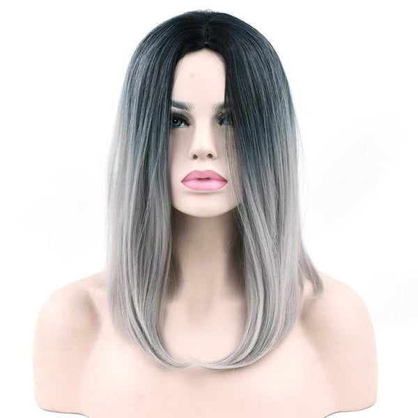 Bob Wigs - 16 11 Colors T1B/light Grey / 16Inches
