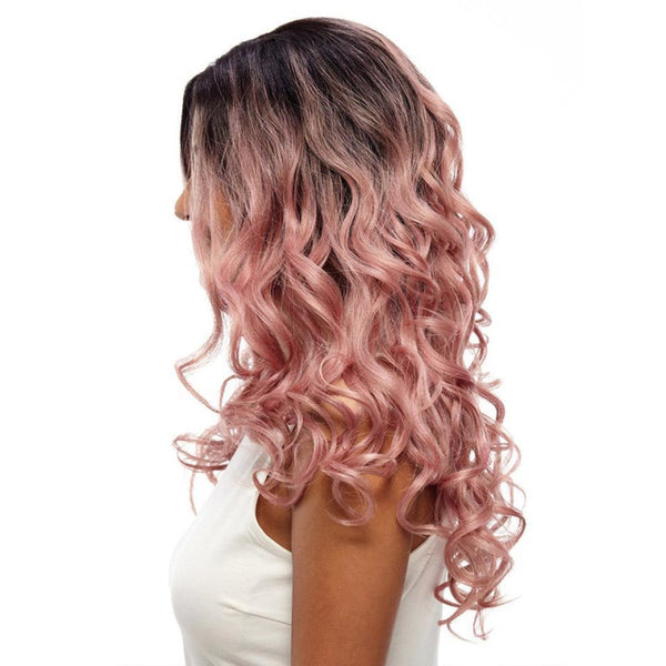 Lace Fronts - Wavy 22 Black Pink Wigs