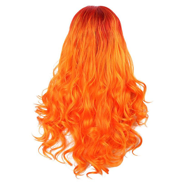 Two Tones - Natural Wave Red To Orange Lace Front Wig