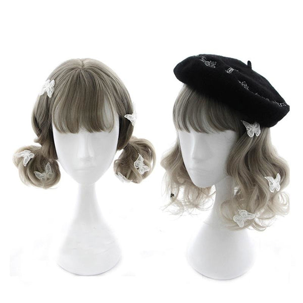 Lolita - Curly 16 Bang Flaxen Wigs