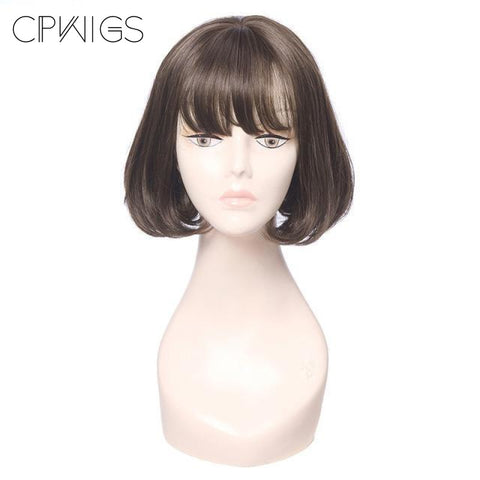 "Straight Bob 16"" - Brown Wigs"