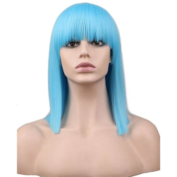 Fashion Wig - Straight 16 8 Colors Sky Blue / 16Inches