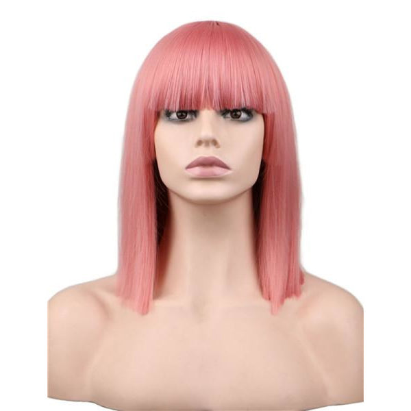 Fashion Wig - Straight 16 8 Colors Pink / 16Inches