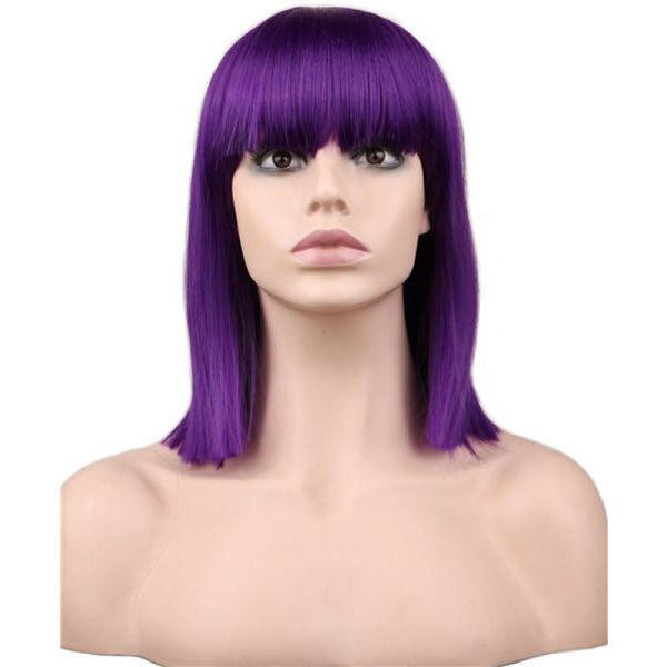 Fashion Wig - Straight 16 8 Colors Purple / 16Inches