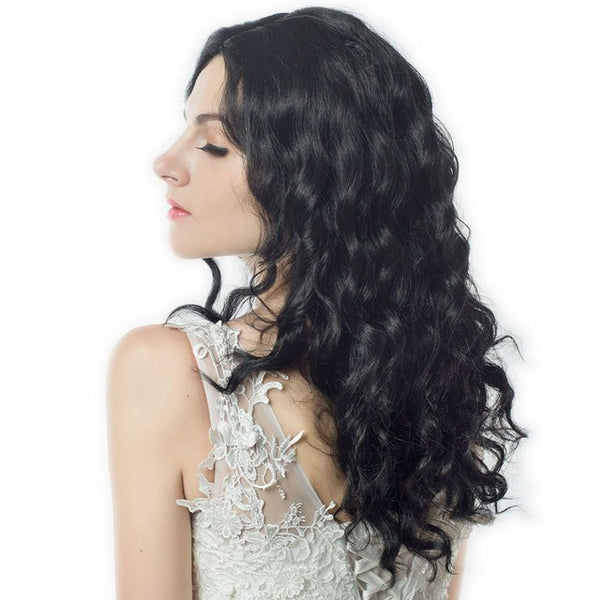 Glueless Synthetic Hair Wig - Wavy 26