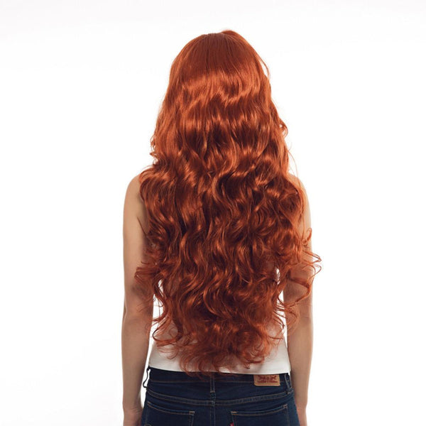 Lace Front Wigs - Long Wavy Red Copper Natural Hair