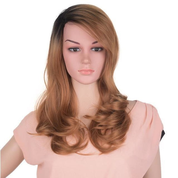 Straight 24 Inches - Synthetic Wigs 1B/30Hl / 24Inches