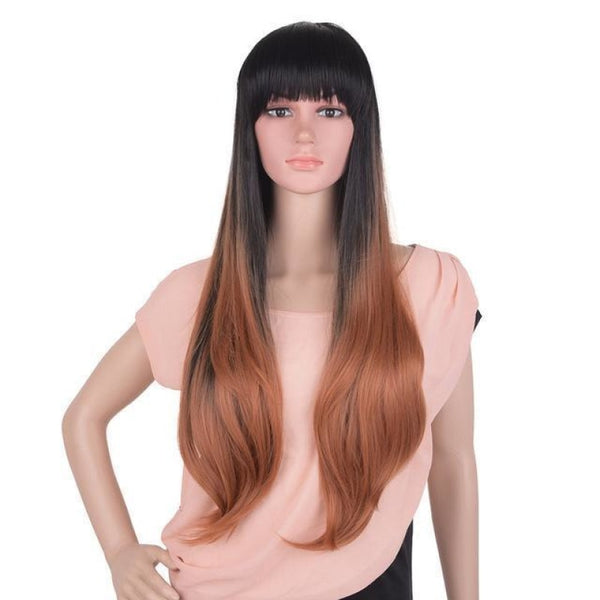 Straight 24 Inches - Synthetic Wigs 1B/27Hl / 24Inches