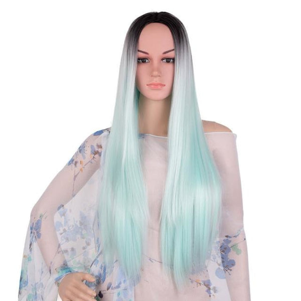 Straight 24 Inches - Synthetic Wigs T1B/350 / 24Inches