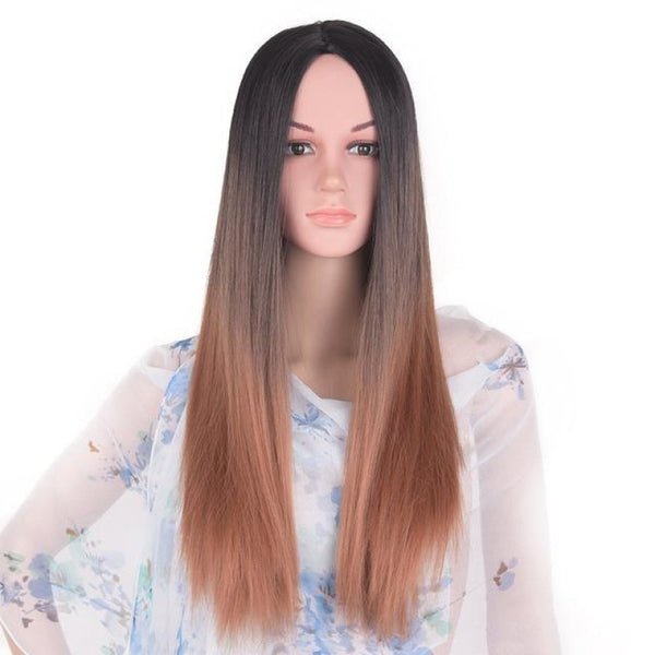 Straight 24 Inches - Synthetic Wigs T1B/27 / 24Inches