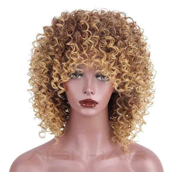 Fashion Wig - 16 Kinky Curly 5 Colors P4/27 / 16Inches China