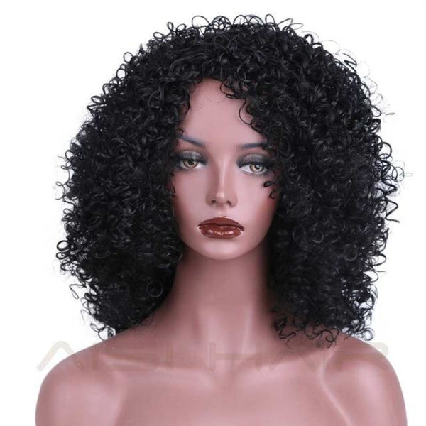 Fashion Wig - 16 Kinky Curly 5 Colors #1 / 16Inches China