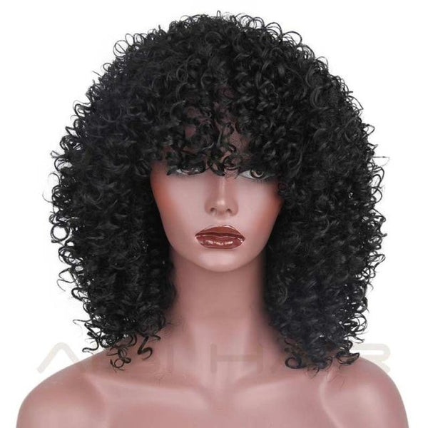Fashion Wig - 16 Kinky Curly 5 Colors Natural Black / 16Inches China
