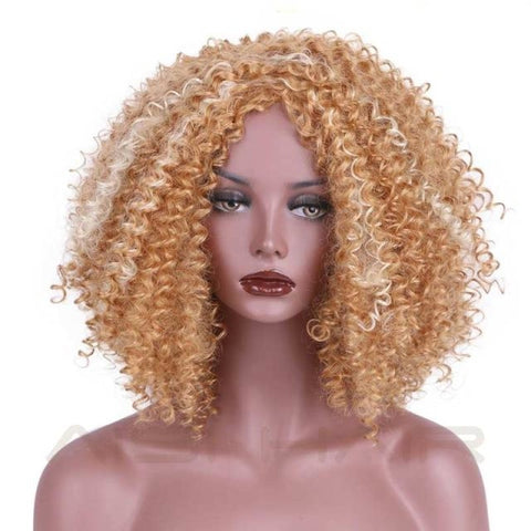 Fashion Wig - 16 Kinky Curly 5 Colors Muli Color / 16Inches China