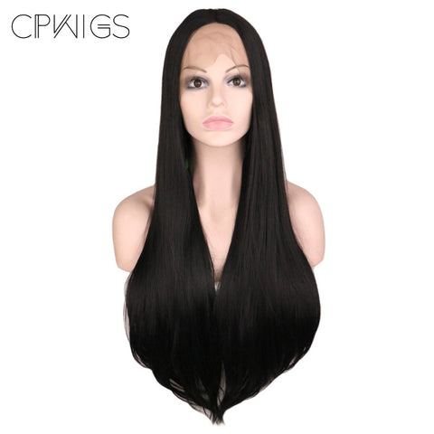 "Lace Fronts - Straight 26"" - Black Wigs"