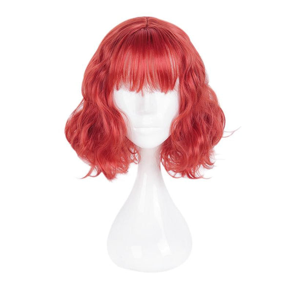 Fashion Wig - Curly 14 Air Bang Wigs (6 Colors) Red