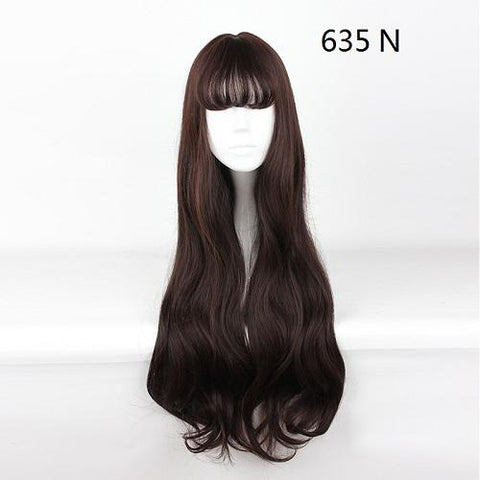 "Harajuku - Straight 30"" - Air Bang Brown Wig"