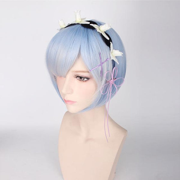 Character Cosplay - Re:zero Starting Life In Another World Ram & Rem Blue With Accessory / 12Inches