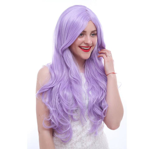 Fashion Wigs - Long Wavy 75Cm/30Inches Purple