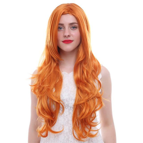 Fashion Wigs - Long Wavy 75cm/30inches - Orange