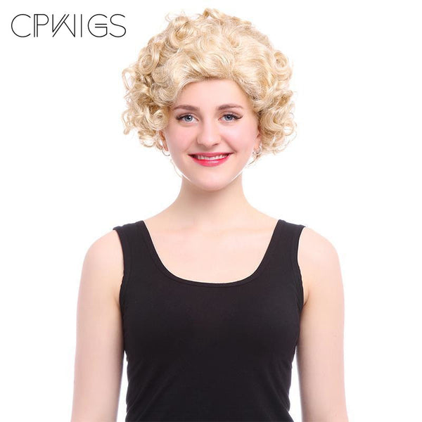 Short Curly Wigs - 28Cm/11Inch Blonde Color