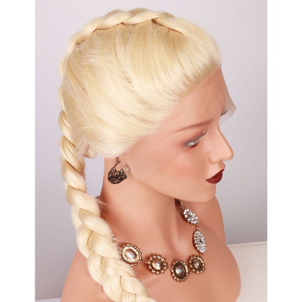 Blonde Braided Lace Front Wigs