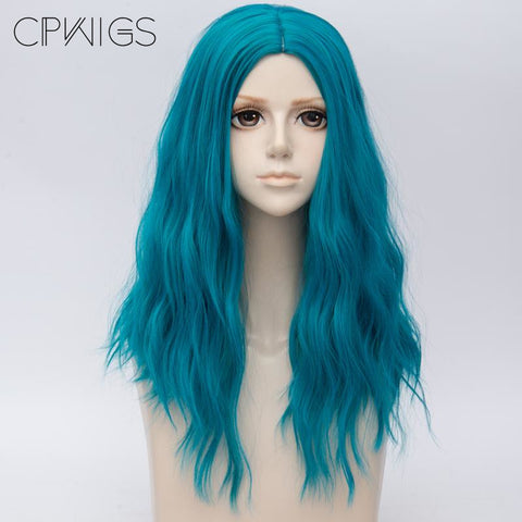 "Fashion Wigs - Curly 20"" - Lake Green Hair"