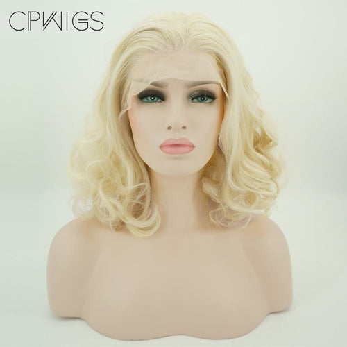 "Lace Fronts - Curly 11"" - Blonde Wigs"