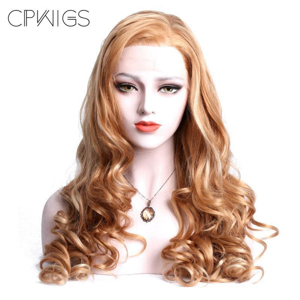 Lace Front - Brown Blond Mixed Color Hand Tied Wig