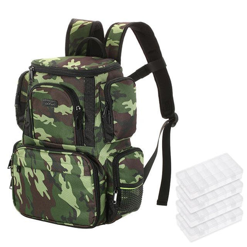 Fishing Backpack with 4 Fishing Tackle Box - Jigged Store