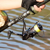 Sougayilang Carbon Telescopic Rod with 14BB Metal Reel Combo - Jigged Store