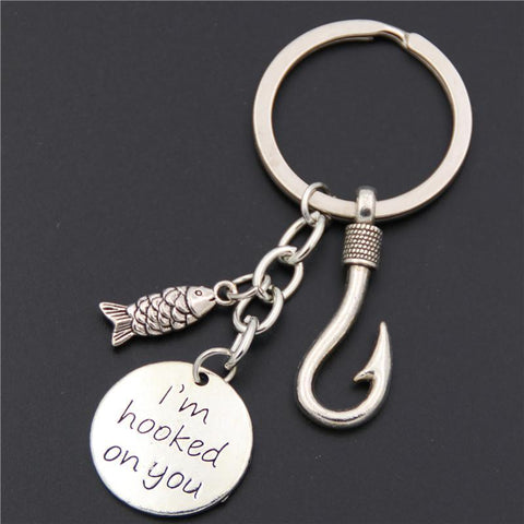 """I'm Hooked On You"" Keychain - Jigged Store"