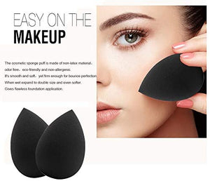Black Non-Latex Makeup Sponge (3pcs)