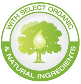 With Select Organic & Natural Ingredients