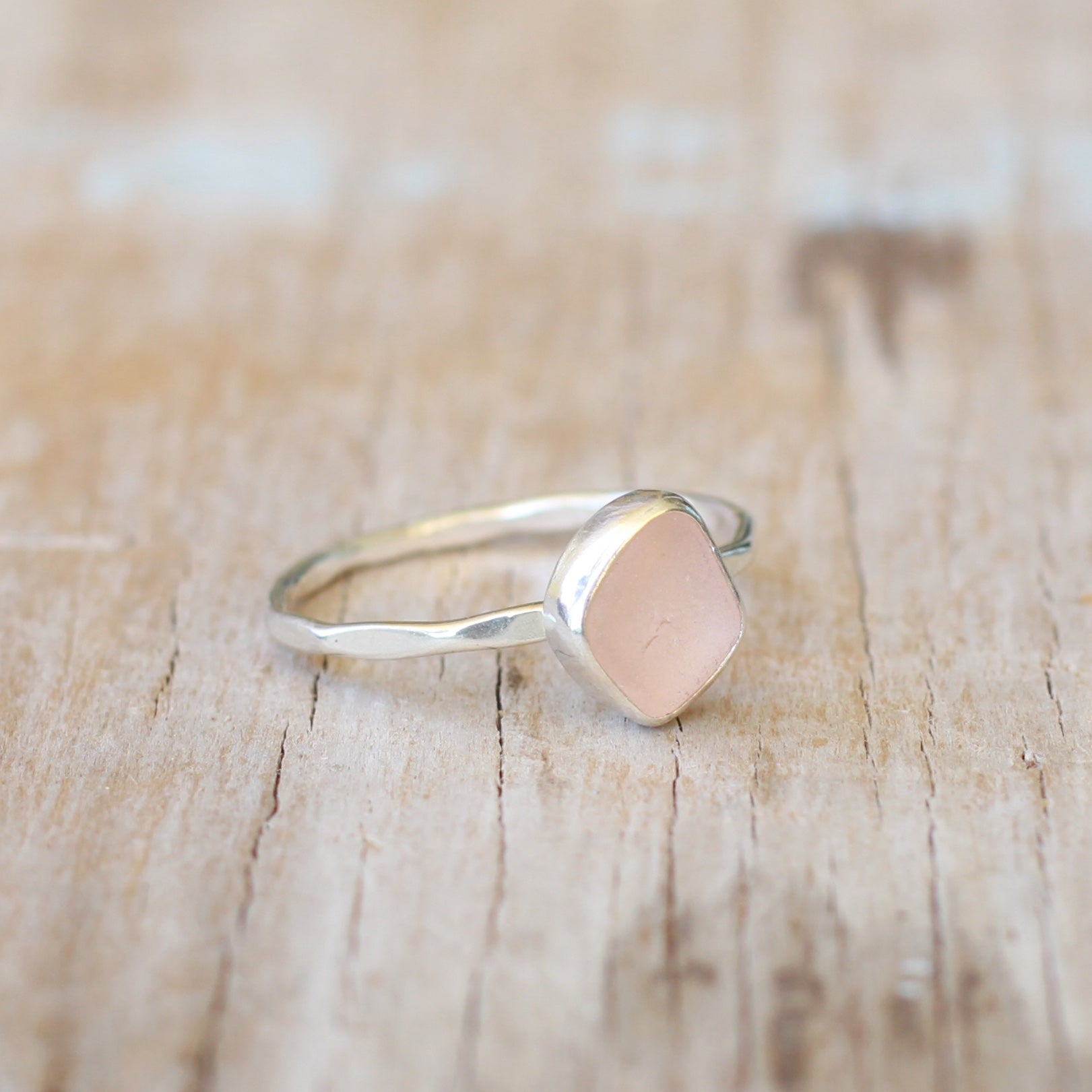 Pink Sea Glass Ring 8